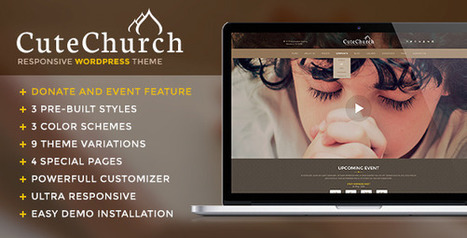 CuteChurch — Responsive Nonprofit Multi WP Theme (Nonprofit) - Creative WordPress ThemeCreative WordPress Theme | horse racing | Scoop.it