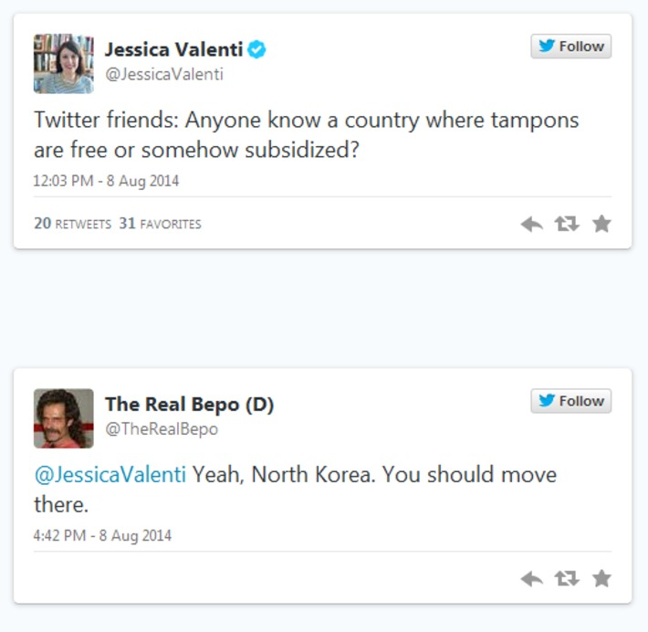What happens when a female writer asks a question on Twitter about women's health (with tweets) · JessicaValenti | Herstory | Scoop.it