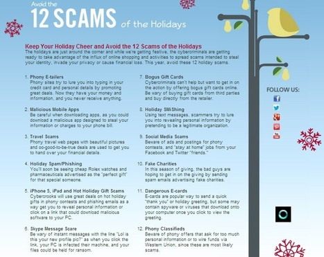 2012 McAfee 12 Scams of the Holidays | Dyslexia, Literacy, and New-Media Literacy | Scoop.it