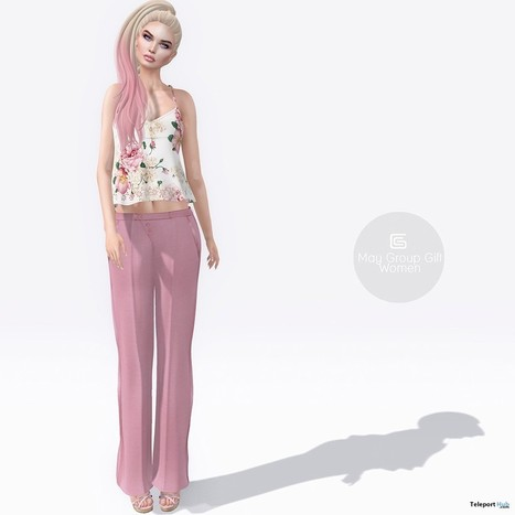 Pink Pants and Top Group Gift by Gizza Creations | Teleport Hub - Second Life Freebies | Second Life Freebies | Scoop.it