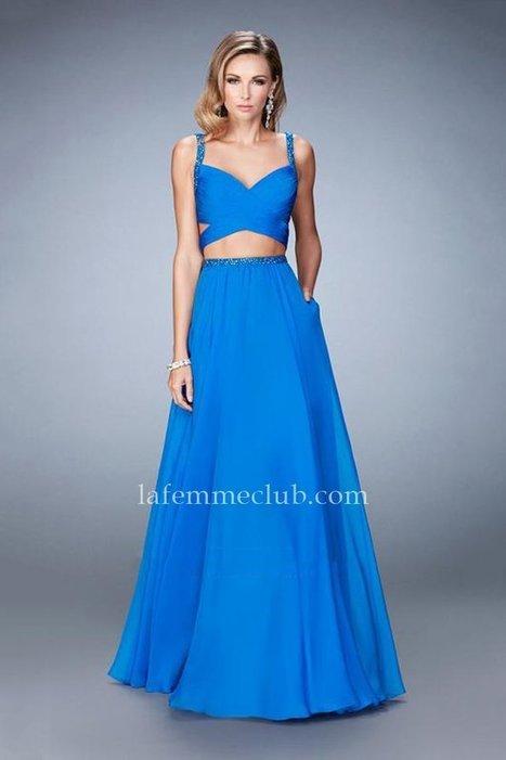 Two Piece La Femme 22718 Electric Blue Prom Dress [La Femme 22718] - $178.00 : La Femme | La Femme Dresses | Cheap La Femme | Prom & Homecoming Dresses | Scoop.it
