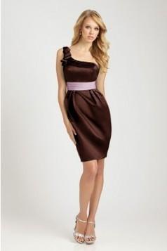 Asymmetrical neckline satin Evening Dress EWD0115 - Adollia makes the dresses fit you! | dresses | Scoop.it