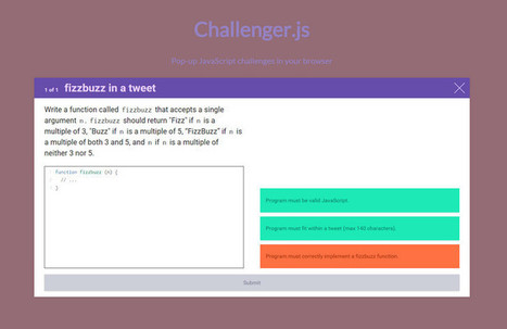 Adds Interactive Programming Challenges to Any Page | Time to Learn | Scoop.it