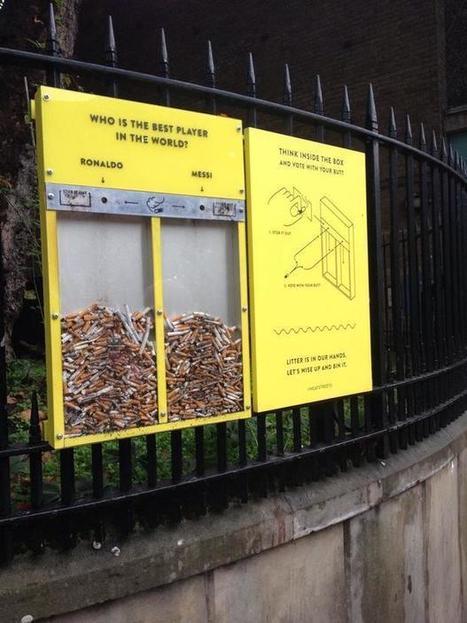 Malin : À Londres, vous votez pour votre joueur préféré avec votre mégot de cigarette | streetmarketing | Scoop.it