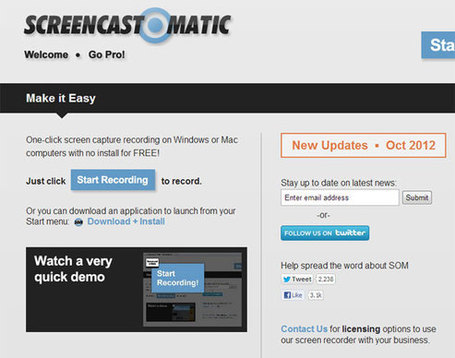 Screen-O-Matic: One-click Screen Capture Recording Tool | ICT Nieuws | Scoop.it