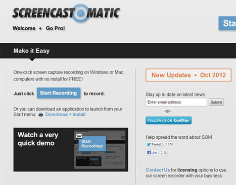 Screen-O-Matic: One-click Screen Capture Recording Tool | Education Technology - theory & practice | Scoop.it