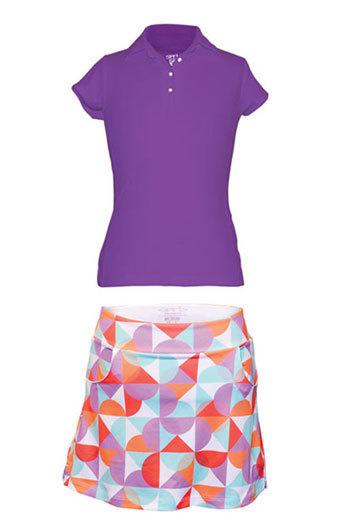Garb Junior Girls Audra/Valerie Golf/Tennis Outfits (Shirt & Skort) – Purple & Multi | Junior Golf | Scoop.it