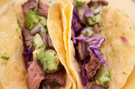 Grilled Steak Tacos with Cucumber-Avocado Salsa | Food Meditations Time | Scoop.it