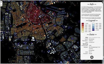 Ciudades visualizadas según la ANTIGÜEDAD de sus edificios | Microsiervos (MundoReal™) | Urbanisme | Scoop.it