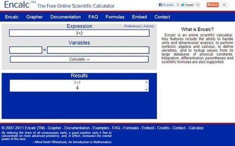 Encalc, una práctica calculadora científica en línea y gratuita | NTICs en Educación | Scoop.it