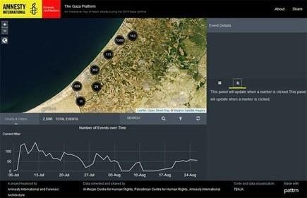 Israël et territoires occupés: Un outil numérique présente l'offensive militaire à Gaza — Amnesty International Suisse | DataViz | Scoop.it