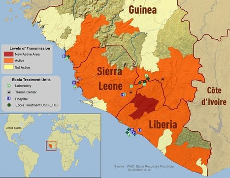 Ebola en de 'mental map' van Afrika. | aardrijkskunde | Scoop.it