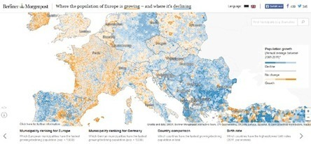 Maps Mania: Mapping Population Trends in Europe | Urbanisme | Scoop.it
