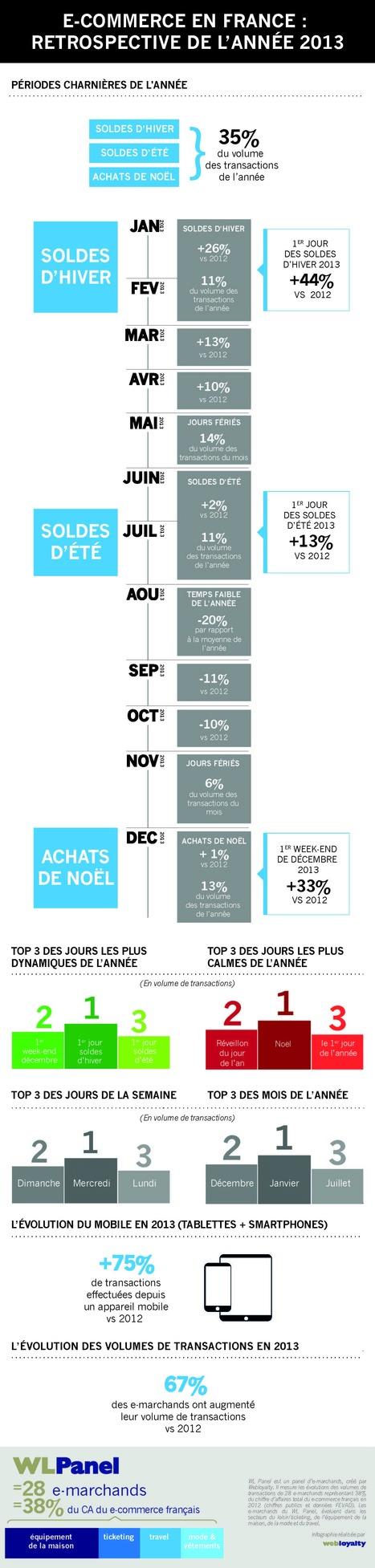 Infographie – L'année 2013 du e-commerce en chiffres | Like website | Scoop.it