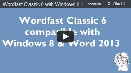 (CAT)-(VIDEO) - Wordfast Classic 6 with Windows 8 & Word 2013 (64-bit) | CATguru's vlog | From the translation's world | Scoop.it
