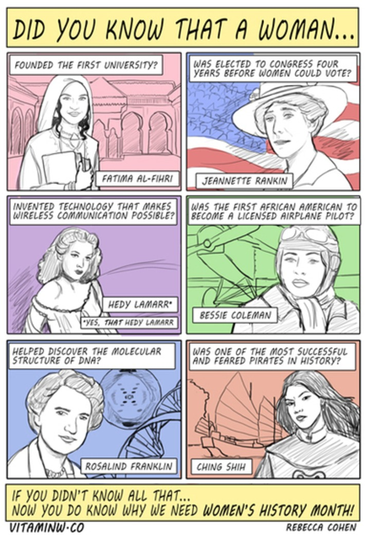 Did You Know That A Woman... By Rebecca Cohen | Herstory | Scoop.it