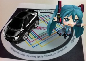 """Japanese virtual pop-star Hatsune Miku lives in Toyota's augmented reality app, powered by junaio 