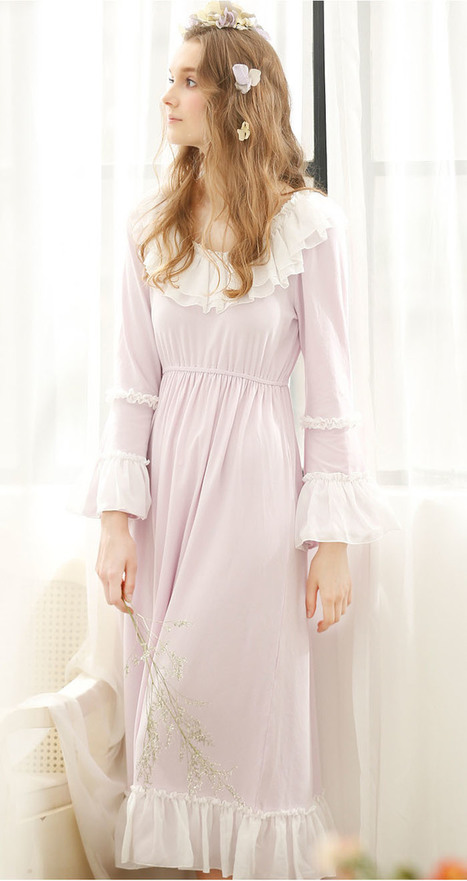 Chiffon ruffled Vintage Cotton Nightdress | my like | Scoop.it
