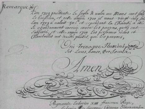 Le grand hiver de 1709 dans le Maine et le Perche | Yvon Généalogie | GenealoNet | Scoop.it