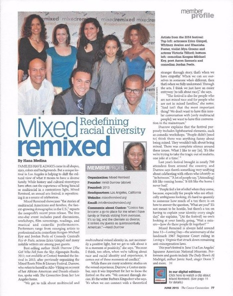 Mixed Remixed Festival - Los Angeles, Saturday June 13, 2015 | Mixed American Life | Scoop.it