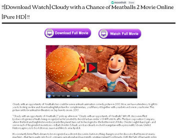 Watch Cloudy with a Chance of Meatballs 2 Movie HD | deedee | Scoop.it
