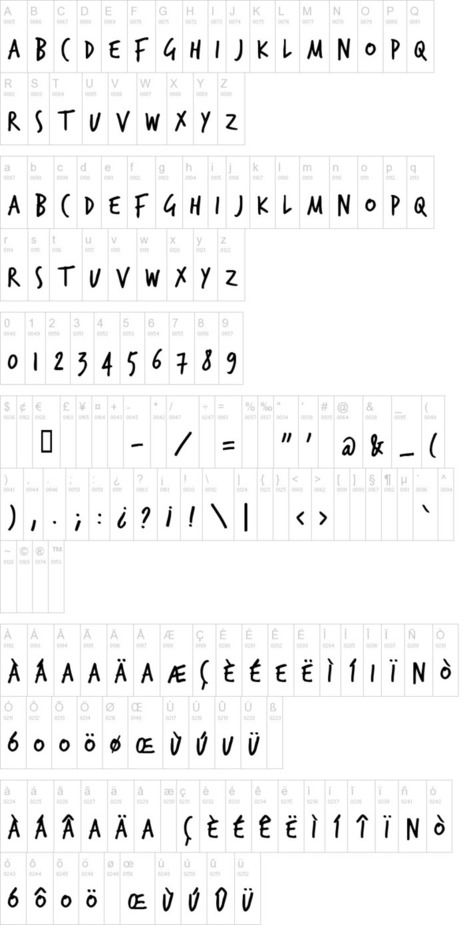 TrashHand Font   dafont.com   Font Lust & Graphic Desires   Scoop.it