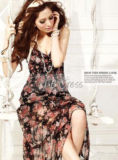 Inexpensive Korean Style Bohemian Petty Flowers Maxi Dress | beauty girl | Scoop.it