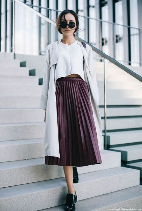How to Style Outfit With Pleated Skirt in Chic Ways » Celebrity Fashion, Outfit Trends And Beauty News | Fashion Style And Beauty Tips | Scoop.it