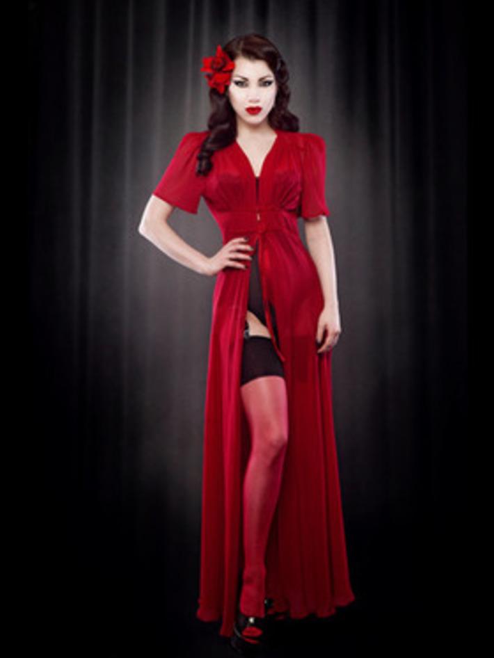 Advance Order Red Silk Elle Robe — Kiss Me Deadly | Lingerie Love | Scoop.it