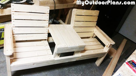 DIY Wood Bench with Table | MyOutdoorPlans | Free Woodworking Plans and Projects, DIY Shed, Wooden Playhouse, Pergola, Bbq | Garden Plans | Scoop.it