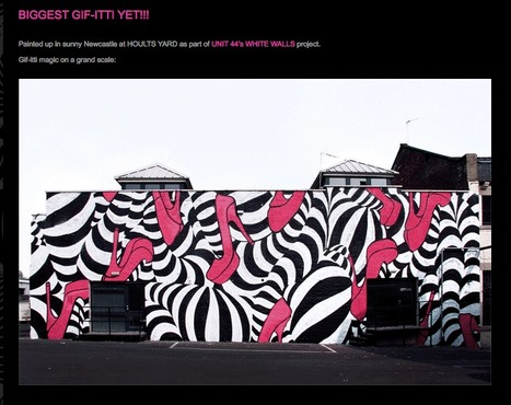 GIF-ITTI - outdoor animated graffiti GIF - INSA | Animated Gif As Art | Scoop.it