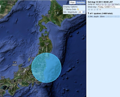 [Séisme] Tremblement de terre de 5.9 au large de Fukushima | Japan Quake Map | Japon : séisme, tsunami & conséquences | Scoop.it