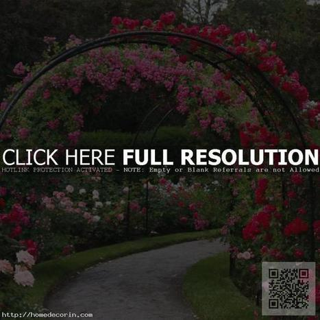 Having Good Decoration for Metal or Wood Garden Arch | Home Designs an Decorating Ideas | Scoop.it