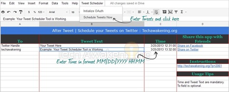 How to Create Your Own Twitter Scheduler with Google Apps Script | Google Apps Script | Scoop.it