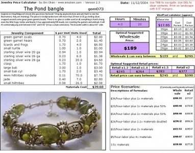 Eni Oken's Jewelry Price Calculator for Excel | The Creative World of Eni Oken | Tips-for-Handmade-Jewelry-Business | Scoop.it