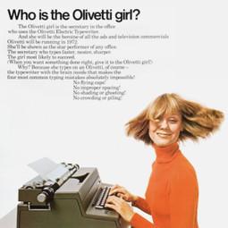 Olivetti girl | Simple pleasures | Scoop.it