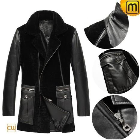 Calfskin Leather Mens Shearling Coat CW877024 | Men's | Scoop.it