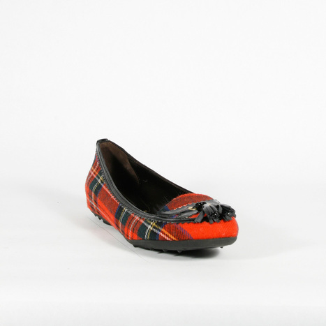 Cesare Paciotti Womens Red Checkered Flat Loafers Ballerina | Designer Womens Shoes | Scoop.it