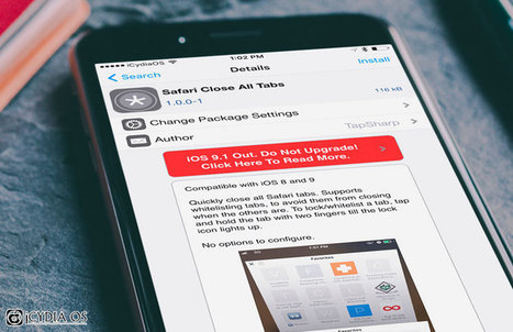 How to Close All Tabs at Once in iOS 9 Safari on iPhone or iPad | Cydia Tweaks | Scoop.it