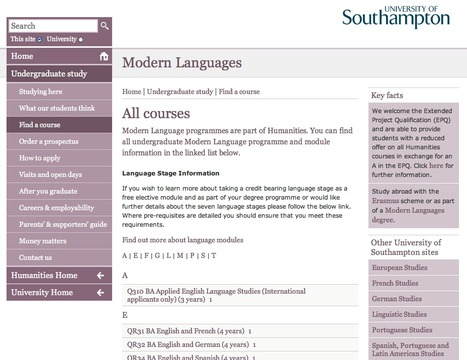 Check out some of the modules you can take  in Modern Languages before you come | Get Ready For Languages at Southampton | Scoop.it