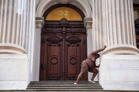 Black Woman Artist Poses Nude at Former New York City Slave Trading Sites, Including Wall Street | Contemporary art by | Scoop.it