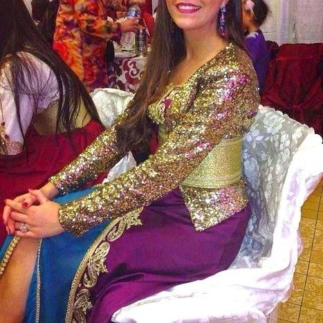 Caftan marocain 2015 style moderne tissu pail for Salon kabyle