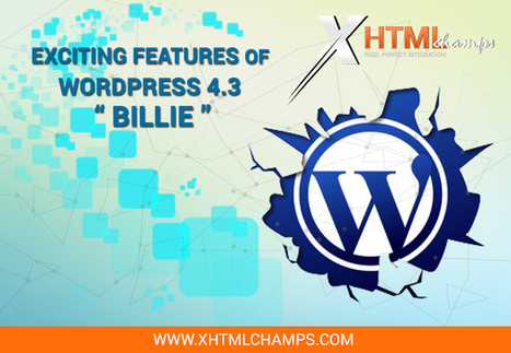 Exciting features of WordPress 'Billie' | xhtmlchamps blog | Web Design and Development | Scoop.it