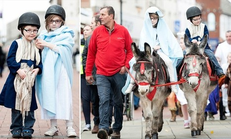 Mary and Joseph Nativity characters ordered to wear crash helmets in case they fall off their donkey in open-air church play | It's Show Prep for Radio | Scoop.it