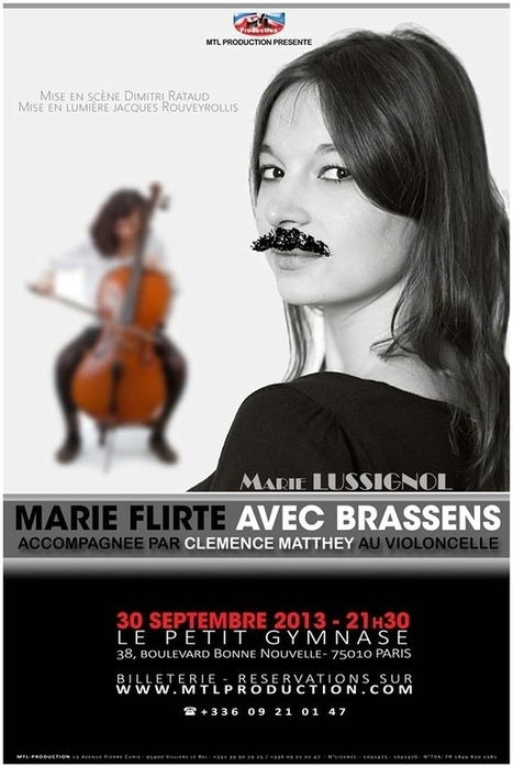 Marie flirte avec Brassens de façon charmante | Paris Show | Culture | Georges Brassens | Scoop.it