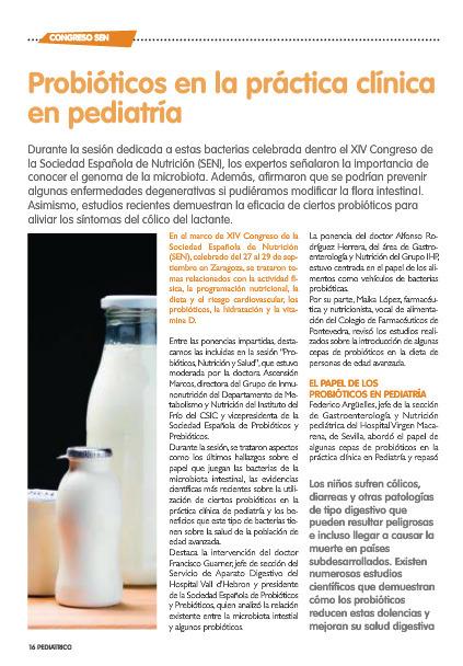 Probióticos en la práctica  clínica en pediatría. | Probióticos y Prebióticos | Scoop.it