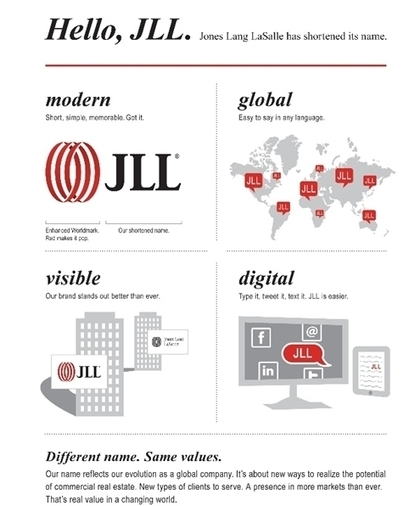 Jones Lang LaSalle becomes JLL | News | Design Week | Corporate Identity | Scoop.it
