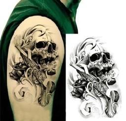 Paul (United States) Skull, Gun and Rose Temporary Tattoo Sticker | joy gitfs | Scoop.it
