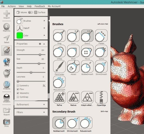 Free 3D Modeling Software To Create, Mash 3D Models: Autodesk Meshmixer | Time to Learn | Scoop.it