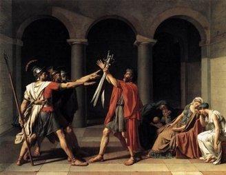 Jacques Louis David,Le Serment des Horaces- Analyse. | TICE et Lettres Classiques | Scoop.it